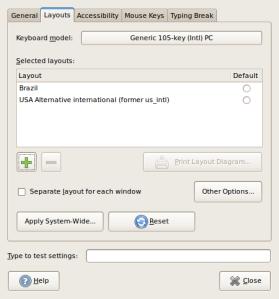 Layout Configurado