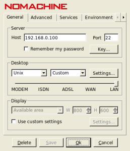 FreeNX - Configurações