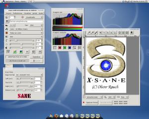 Xsane rodando remotamente com o FreeNX